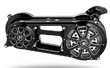 MOTORCYCLE BELTDRIVE FL, SOFTAILS, DYNAS CUSTOMS PM BLACK CONTRAST CUT