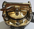 "CUSTOM BRASS HINGED GASCAP FOR CUSTOMS, CAFE RACER OR BOBBER , HOT RODS"" HAMMER STYLE"""