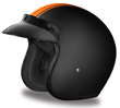 MOTORCYCLE HELMETS D.O.T. DAYTONA CRUISER- W/ ORANGE PIN STRIPE