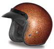 MOTORCYCLE HELMETS D.O.T. DAYTONA CRUISER- ROOT BEER METAL FLAKE