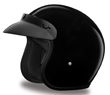 MOTORCYCLE HELMETS D.O.T. DAYTONA CRUISER- HI-GLOSS BLACK