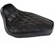 MOTORCYCLE SEATS Hardtail Rigid Mount Solo Seat Black Diamond