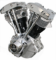HARLEY MOTORCYCLE ENGINES SHOVEL HEAD ULTIMA CHROME AND BLACK