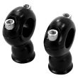 "2"" Classic Black Stainless Risers for 1"" Diameter Handlebars"