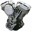 Custom Motorcycle Engines Ultima Black and Chrome El Bruto 127c.i Complete Engine  Harley Big Twin