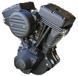 "Harley Engines Ultima® ""Black Out"" 120 c.i. El Bruto® Motor for 1984-99 Harley & Customs Models"