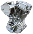Ultima Polished El Bruto 127c.i Complete Engine for Harley Big Twin 1984-1999