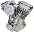 Harley engines ULTIMA EL BRUTO 127 CI NATURAL AND CHROME FINISH ENGINE MOTOR EVO HARLEY