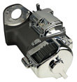 Ultima Black 6-speed Right Side Drive Transmission for Harley & Custom, Hydraulic Type