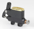 "KUSTOM TECH DELUXE WIRE OPERATOR MASTER CYLINDER 14mm (9/16"") BORE BLACK ALUMINUM AND BRASS (polish)"