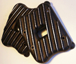 SPORTSTER 04 & UP RIBBED ROCKER BOX COVERS CONTRAST CUT BLACK...