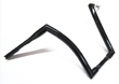 CUSTOM CHOPPER HANDLEBARS BLACK  1.5 OD, 14S & 16S