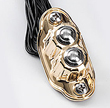 KUSTOM TECH DELUXE LINE 2 BUTTON SWITCH HOUSING BRASS (polish)