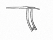 CARLINI MENACE DRAG BARS CHROME 1.25 / 13 INCHES, TALL