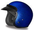 MOTORCYCLE HELMETS D.O.T. DAYTONA CRUISER- BLUE METAL FLAKE