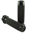 HARLEY CHOPPER MOTORCYCLE GRIPS Knurled Moto Grips - Black  Satin