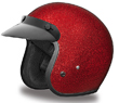 MOTORCYCLE HELMETS D.O.T. DAYTONA CRUISER- RED METAL FLAKE