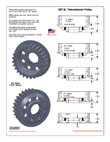 Offset 5 speed 28T XL Transmission Pulleys
