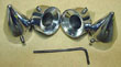 SPIKE HEAD BOLT COVERS CHROMED / EVO/ TWIN CAM USA MADE