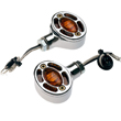 Center Mount Turn Signal Amber Chrome
