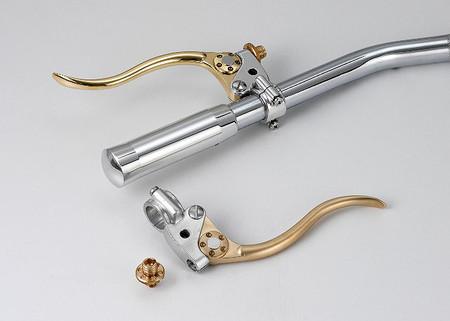 Mechanical Control Cable Levers : Cable controlled levers clutch brake cafe racer style